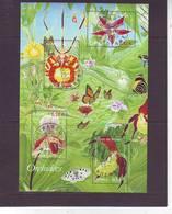FRANCE . BLOCS & FEUILLETS . OBLITERES Du Bureau De WARCQ  Le 29.04.2005 . BLOC N: 81 . Série NATURE . ORCHIDEES - Blocs & Feuillets