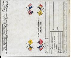 1914/18 - RARE CARTE-LETTRE FM NON PLIEE Des CHOCOLATS POULAIN - Postmark Collection (Covers)
