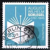 Bund 2017, Michel# 3332 O August Wilhelm Schlegel - BRD