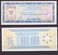 Bolivien , 1 Million Pesos Bolivianos , 1985 , P-192 C , VF - Bolivien