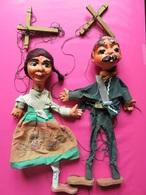 122 - Marionnettes Ou Pantins à Fils - Mexique - Vintage - Puppets