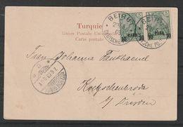 E11 - GERMANY Levant P.O. Beirut Lebanon 1903 Postcard - Lebanon
