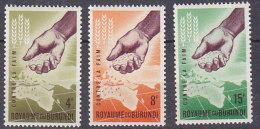 A0124 - BURUNDI Yv N°49/51 ** CONTRE LA FAIM - Burundi