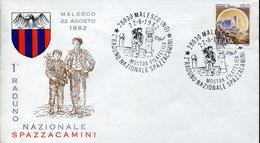 34131 Italia, Special Postmark 1982 Malesco Novara Raduno Nazionale Spazzacamini,chimney Sweep,ramoneur,Schornsteinfeger - Other