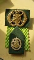 "Emblem Of Beret,Cap  Royal Netherlands Army - Embleem - 1 Kraag Regiment Geneeskundige Troepen ""60 - Headpieces, Headdresses"