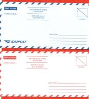 Kazakhstan 2002 And 2010. Envelopes New. Two Envelopes Paid Answer. Very Very Rare. - Kazakhstan
