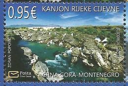CG 2017-18 NATURA CIJEVNA, CRNA GORA MONTENEGRO, 1 X 1v, MNH - Montenegro