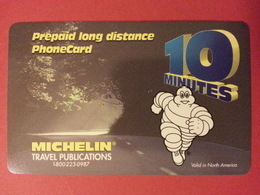 MICHELIN Pneu Voiture Prepaid Canada Telecom OTN No Pin - Télécartes