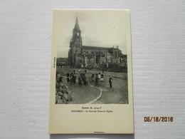 CPA 54 BACCARAT - Guerre De 1914-15 - La Rue Des Ponts Et L'église - Bombardement - Baccarat