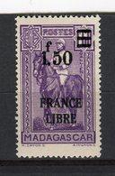 """MADAGASCAR - Y&T N° 261** - Général Joseph-Simon Galliéni Surchargé """"FRANCE LIBRE"""" - Madagascar (1889-1960)"""