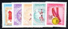 308 - 490 - ALBANIA 1965 ,    Yvert N. 842/846  ***. Basket Pallacanestro - Albania