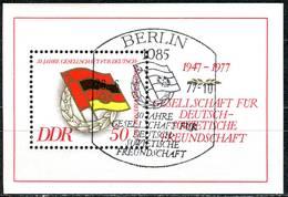 DDR - Mi Block 47 = 2235 - OO Gestempelt (A) - 50Pf     30 Jahe Gesellschaft Für DSF - DDR