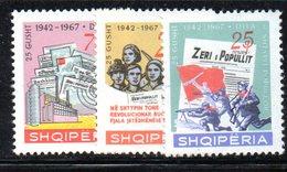 315 - 490 - ALBANIA 1967 ,    Yvert N. 1009/1011  ***  Stampa - Albania