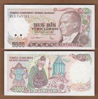AC - TURKEY - 7th EMISSION 5 000 TL B UNCIRULATED - Turchia