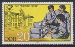 "DDR Germany 1981 Mi 2586 YT 2244 ** Ingenieurschule ""Rosa Luxemburg"" Der Deutschen Post, Leipzig / Engineering School - Post"