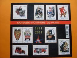 F4582 SAPEURS-POMPIERS DE PARIS - Bloc De Notas & Hojas