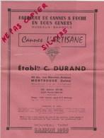 PECHE - TARIF  1958 1959 1961 - CANNES A PECHE L'ARTISANE - ETS DURAND - MONTROUGE - France