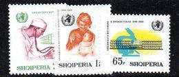 316 - 490 - ALBANIA 1968 ,    Yvert N. 1085/1087  ***  Oms - Albania
