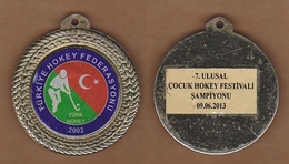 AC - 7th NATIONAL CHILDREN HOCKEY FESTIVAL 09 JUNE 2013 TURKISH HOCKEY FEDERATION MEDAL - Hockey - NHL