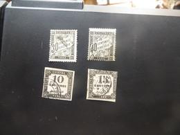 4 Timbres Taxes , Classiques De FRANCE - Postage Due