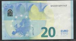 """€ 20  ITALIA SF S007  """"23""""   DRAGHI  UNC - EURO"""