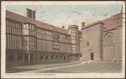 The Cloisters, Queens College, Cambridge, Cambridgeshire, 1919 - Redin & Co Postcard - Cambridge