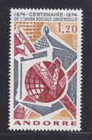 ANDORRE N°  242 ** MNH Neuf Sans Charnière, TB (D7227) Centenaire De L'U.P.U. - French Andorra