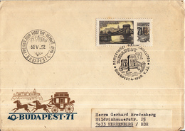 Hongarije - FDC 22-5-05-1969 - Briefmarkenausstellung BUDAPEST 71 (I) - Mettenbrücke - Brug/Bridge/Brücke/Pont - M2504 - Bruggen