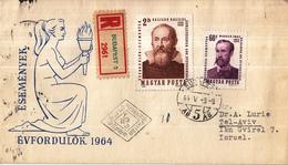 Hongarije - FDC 03-05-1964 - Einschreiben/Recommande Budapest 5 - Imre Mádach/Galileo Galileis - M2022A-2023A - FDC