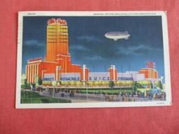 General Motors Building Zeppelin - Chicago Worlds Fair -----    ------  Ref 2964 - Expositions