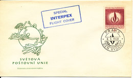 Czechoslovakia Special INTERPEX Flight Cover HUMAN RIGHTS Cover 8-3-1968 With UPU Cachet - Czechoslovakia