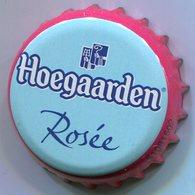 CAPSULE-BIERE-BEL-BRASSERIE HOEGAARDEN DE KLUIS Rosée Fond Bleu Clair - Bière