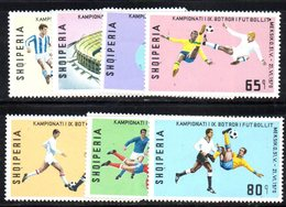 330 - 490 - ALBANIA 1970 ,    Yvert N. 1237/1243  ***  Calcio Rimet - Albania