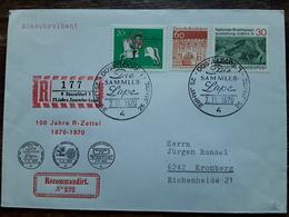 """Lettre Einschreiben  Brief DUSSELDORF Deutschland,   """" 25 Jahre Die  Sammler Lupe   > Kronberg  1970 , Tb - Covers & Documents"""