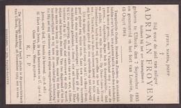 Oorlog Guerre, Bidprentje Soldaat Froyen Uit Ulbeek, Gesneuveld 15 Augustus Fort Loncin, Mort Pour La Patrie - Devotion Images
