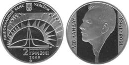 Ukraine - 2 Hryvni 2008 UNC Lev Landau Physicist-theorist The Nobel Prize Laureat Ukr-OP - Ukraine