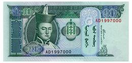 MONGOLIA 10 TUGRIK 2002 Pick 62b Unc - Mongolia