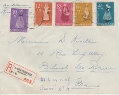 Pays Bas Lettre Recommandée 1958 Pour La France - 1949-1980 (Juliana)