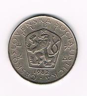 TSJECHOSLOWAKIJE  5 KORUN  1982 - Tchécoslovaquie