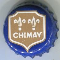 CJ-CAPSULE-BIERE-BEL-BRASSERIE NOTRE-DAME DE SCOURMONT Chimay Fond Bleu, BLASON Or - Beer