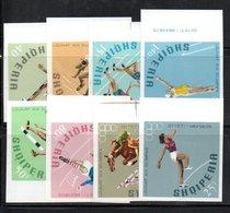 337 - 490 - ALBANIA 1968 ,    Yvert N. 1125/1132  *** Olimpiadi Messico NON DENTELLATO - Albanien