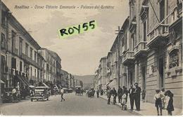 Campania-avellino Corso Vittorio Emanuele Palazzo Governo Auto D'epoca Folla  Bella Animatissima Veduta Corso Anni 20/30 - Avellino