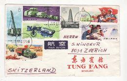 Chine   Lettre De 1975    Nombreux Timbres - 1949 - ... République Populaire