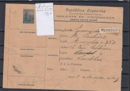 Argentinien Michel Cat.No.postal Stat Used H&G Parcel Post 8 - Interi Postali