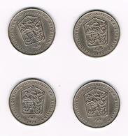 TSJECHOSLOWAKIJE  4 X 2 KORUNY  1972/73/75/76 - Tchécoslovaquie