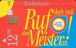 GERMANY S13/95 - Meister Ruf An - S-Series: Schalterserie Mit Fremdfirmenreklame