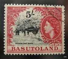 BASUTOLAND 1954. Mission Cave House. 5s - Black And Red. SG 52. Used. - Basutoland (1933-1966)