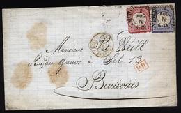 A5449) DR Brief Mühlhausen 2.8.72 N. Beauvais Mit Hufeisenstempel - Briefe U. Dokumente