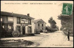 CUPERLY Café De La Gare Et Route De Châlons - Other Municipalities
