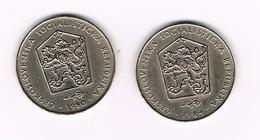 TSJECHOSLOWAKIJE  2 X 2 KORUNY  1980/84 - Tchécoslovaquie